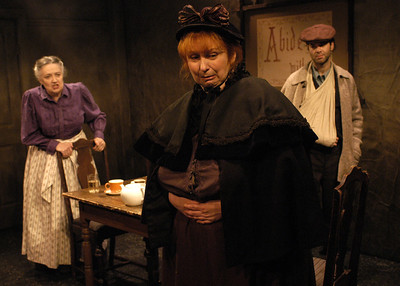 Mikel Sarah Lambert, Jodie Lynne McClintock and Peter Russo in THE DAUGHTER-IN-LAW by D.H. Lawrence  Photo: Richard Termine