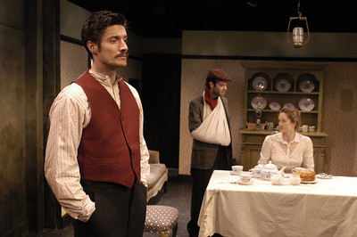 Gareth Saxe, Peter Russo and Angela Reed in THE DAUGHTER-IN-LAW by D.H. Lawrence  Photo: Richard Termine