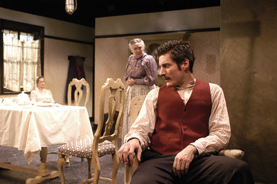 Angela Reed, Mikel Sarah Lambert and Gareth Saxe in THE DAUGHTER-IN-LAW by D.H. Lawrence  Photo: Richard Termine
