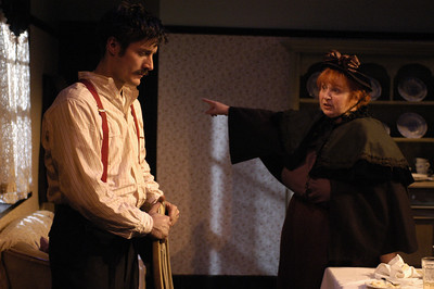 Gareth Saxe and Jodie Lynn McClintock in THE DAUGHTER-IN-LAW by D.H. Lawrence  Photo: Richard Termine