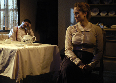Gareth Saxe and Angela Reed in THE DAUGHTER-IN-LAW by D.H. Lawrence  Photo: Richard Termine