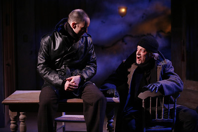 Kelly AuCoin and Ronald Guttman in THE FIFTH COLUMN by Ernest Hemingway   Photo: Richard Termine