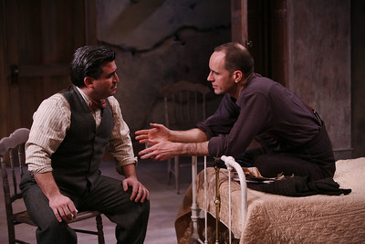 Carlos Lopez and Kelly AuCoin in THE FIFTH COLUMN by Ernest Hemingway   Photo: Richard Termine