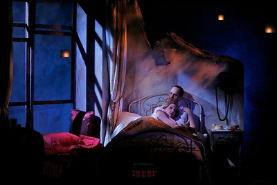 Kelly AuCoin and Heidi Armbruster in THE FIFTH COLUMN by Ernest Hemingway   Photo: Richard Termine