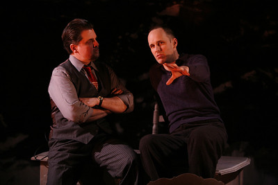 James Andreassi and Kelly AuCoin in THE FIFTH COLUMN by Ernest Hemingway   Photo: Richard Termine