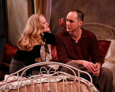 Heidi Armbruster and Kelly AuCoin in THE FIFTH COLUMN by Ernest Hemingway   Photo: Richard Termine