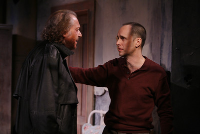 Ronald Guttman and Kelly AuCoin in THE FIFTH COLUMN by Ernest Hemingway   Photo: Richard Termine