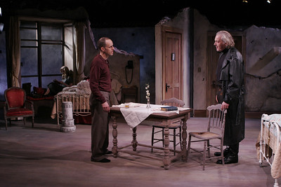 Heidi Armbruster, Kelly AuCoin and Ronald Guttman in THE FIFTH COLUMN by Ernest Hemingway   Photo: Richard Termine