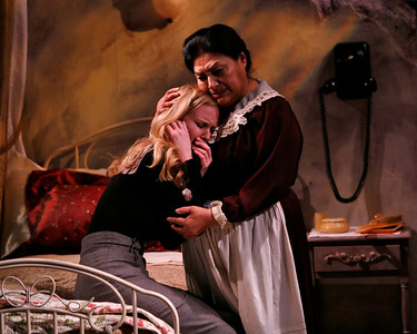 Heidi Armbruster and Teresa Yenque in THE FIFTH COLUMN by Ernest Hemingway   Photo: Richard Termine