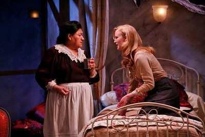 Teresa Yenque and Heidi Armbruster in THE FIFTH COLUMN by Ernest Hemingway   Photo: Richard Termine
