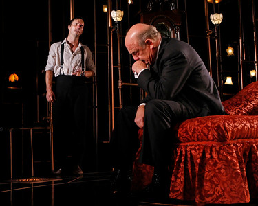 Saxon Palmer and Gerry Bamman in THE GLASS CAGE by J.B. Priestley  Photo: Richard Termine