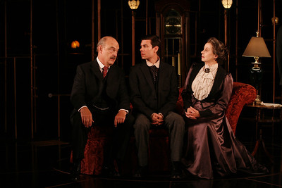 Gerry Bamman, Aaron Krohn and Robin Moseley in THE GLASS CAGE by J.B. Priestley  Photo: Richard Termine