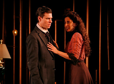 Aaron Krohn and Jeanine Serralles in THE GLASS CAGE by J.B. Priestley  Photo: Richard Termine