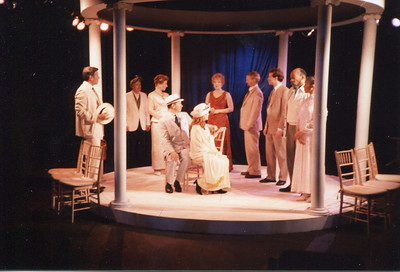 Gus Kaikkonen, Larry Swansen, Kathleen Turco-Lyon, Michael Stebbins, Janice Muller, Lisa Bostnar, Bruce Barney, G.R. Johnson, Mike Hodge and Sundy Leigh Leake in THE HOUSE OF MIRTH by Edith Wharton and Clyde Fitch