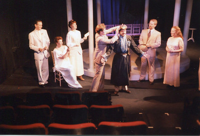 Michael Stebbins, Kathleen Turco-Lyon, Jennifer Chudy, G.R. Johnson, Donald Warfield, Bruce Barney and Janice Muller in THE HOUSE OF MIRTH by Edith Wharton and Clyde Fitch