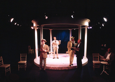 G.R. Johnson, Bruce Barney, Gus Kaikkonen, Larry Swansen and Mike Hodge in THE HOUSE OF MIRTH by Edith Wharton and Clyde Fitch