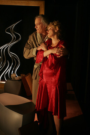 Ronald Guttman and Lisa Bostnar in THE LONELY WAY by Arthur Schnitzler  Photo: Rahav Segev/Photopass.com