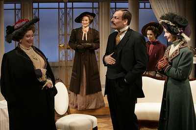 Laurie Kennedy, Angela Reed, Mark L. Montgomery, Pamel McVeagh and Allison McLemore in THE MADRAS HOUSE by Harley Granville-Barker  Photo: Richard Termine