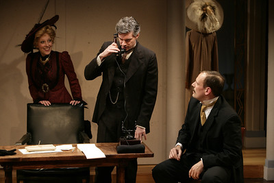 Lisa Bostnar, Thomas M. Hammond and Mark L. Montgomery in THE MADRAS HOUSE by Harley Granville-Barker  Photo: Richard Termine