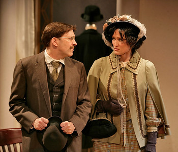 Kraig Swartz and Angela Reed in THE MADRAS HOUSE by Harley Granville-Barker  Photo: Richard Termine