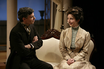 Thomas M. Hammond and Allison McLemore in THE MADRAS HOUSE by Harley Granville-Barker  Photo: Richard Termine