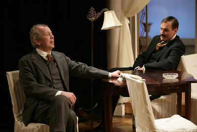 Jonathan Hogan and Mark L. Montgomery in THE MADRAS HOUSE by Harley Granville-Barker  Photo: Richard Termine