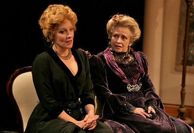 Lisa Bostnar and Roberta Maxwell in THE MADRAS HOUSE by Harley Granville-Barker  Photo: Richard Termine