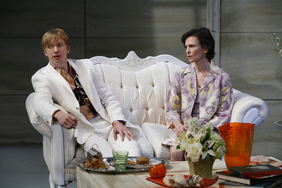 Roderick Hill and Tandy Cronyn in THE RETURN OF THE PRODIGAL by St. John Hankin  Photo: Richard Termine