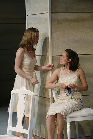 Margot White and Leah Curney in THE RETURN OF THE PRODIGAL by St. John Hankin  Photo: Richard Termine