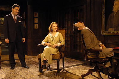 Stephen Schnetzer, Victoria Mack and James Knight in THE TRUTH ABOUT BLAYDS by A.A. Milne  Photo: Richard Termine