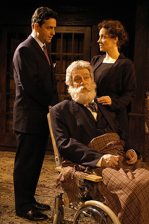 Stephen Schnetzer, Jack Ryland and Lisa Bostnar in THE TRUTH ABOUT BLAYDS by A.A. Milne  Photo: Richard Termine