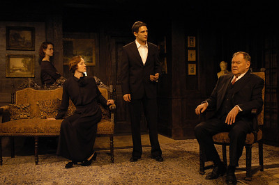Victoria Mack, Kristin Griffith, James Knight and Jack Davidson in THE TRUTH ABOUT BLAYDS by A.A. Milne  Photo: Richard Termine