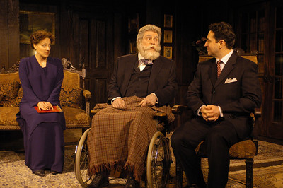 Lisa Bostnar, Jack Ryland and Stephen Schnetzer in THE TRUTH ABOUT BLAYDS by A.A. Milne  Photo: Richard Termine