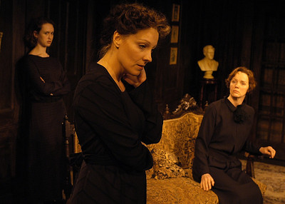 Victoria Mack, Lisa Bostnar and Kristin Griffith in THE TRUTH ABOUT BLAYDS by A.A. Milne  Photo: Richard Termine