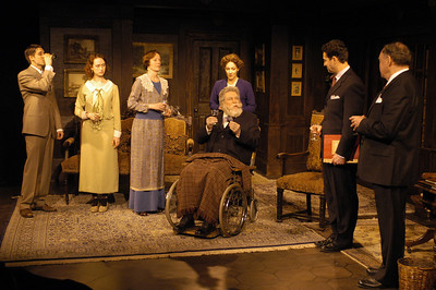 James Knight, Victoria Mack, Kristin Griffith, Lisa Bostnar, Jack Ryland, Stephen Schnetzer and Jack Davidson in THE TRUTH ABOUT BLAYDS by A.A. Milne  Photo: Richard Termine