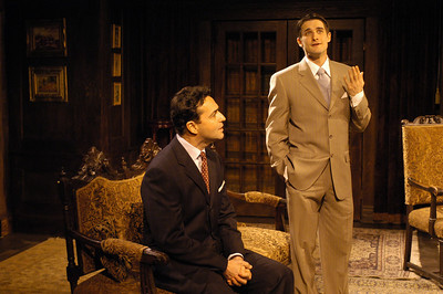 Stephen Schnetzer and James Knight in THE TRUTH ABOUT BLAYDS by A.A. Milne  Photo: Richard Termine