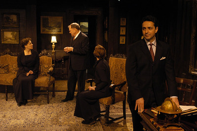 Lisa Bostnar, Jack Davidson, Kristin Griffith and Stephen Schnetzer in THE TRUTH ABOUT BLAYDS by A.A. Milne  Photo: Richard Termine