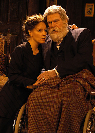 Lisa Bostnar and Jack Ryland in THE TRUTH ABOUT BLAYDS by A.A. Milne  Photo: Richard Termine