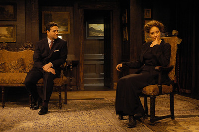 Stephen Schnetzer and Lisa Bostnar in THE TRUTH ABOUT BLAYDS by A.A. Milne  Photo: Richard Termine