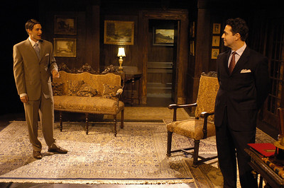 James Knight and Stephen Schnetzer in THE TRUTH ABOUT BLAYDS by A.A. Milne  Photo: Richard Termine