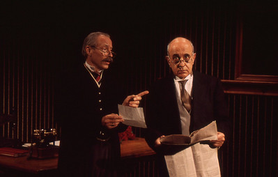 Kurt Everhurt and George Morfogen in THE VOYSEY INHERITANCE by Harley Granville-Barker  Photo: Michael Gottlieb