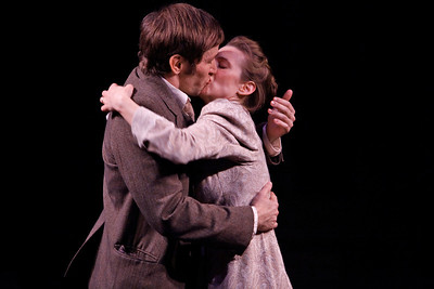 Nick Cordileone and Julia Coffey in THE WIDOWING OF MRS. HOLROYD by D.H. Lawrence  Photo: Richard Termine