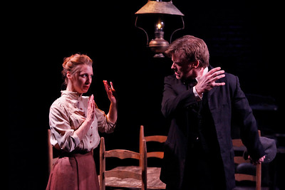 Julia Coffey and Eric Martin Brown in THE WIDOWING OF MRS. HOLROYD by D.H. Lawrence  Photo: Richard Termine
