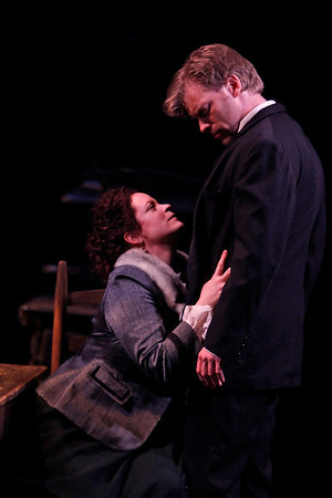 Pilar Witherspoon and Eric Martin Brown in THE WIDOWING OF MRS. HOLROYD by D.H. Lawrence  Photo: Richard Termine