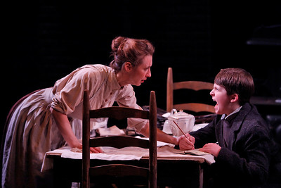 Julia Coffey and Dalton Harrod in THE WIDOWING OF MRS. HOLROYD by D.H. Lawrence  Photo: Richard Termine