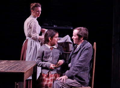 Julia Coffey, Emma Kantor and Nick Cordileone in THE WIDOWING OF MRS. HOLROYD by D.H. Lawrence  Photo: Richard Termine