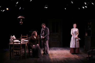 Randy Danson, Nick Cordileone and Julia Coffey in THE WIDOWING OF MRS. HOLROYD by D.H. Lawrence  Photo: Richard Termine