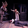 Nick Cordileone, Julia Coffey, and Eric Martin Brown (on floor) in THE WIDOWING OF MRS. HOLROYD by D.H. Lawrence <br /> Photo: Richard Termine