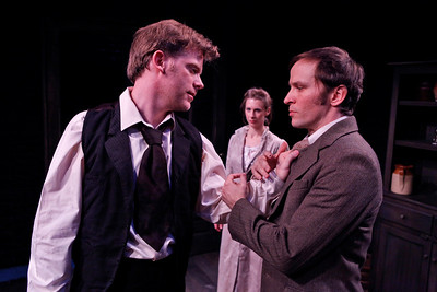 Eric Martin Brown, Julia Coffey and Nick Cordileone in THE WIDOWING OF MRS. HOLROYD by D.H. Lawrence  Photo: Richard Termine