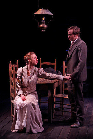 Julia Coffey and Nick Cordileone in THE WIDOWING OF MRS. HOLROYD by D.H. Lawrence  Photo: Richard Termine